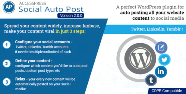 Accesspress social auto post plugin wordpress