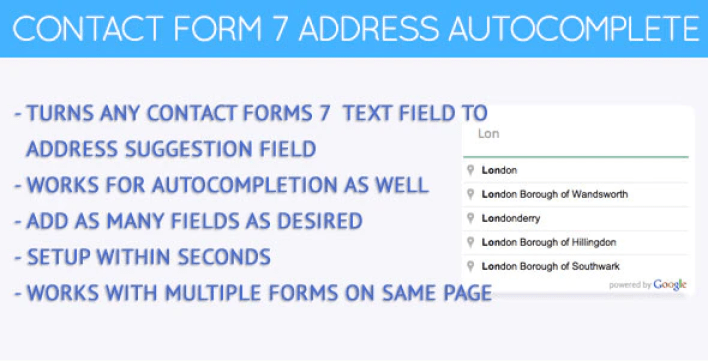 Contact forms 7 address autocomplete plugin wordpress