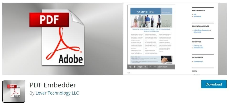 Plugin PDF incorporato