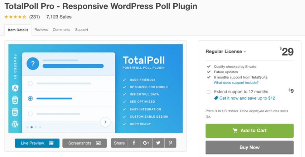 plug-in de sondage totalpoll wordpress