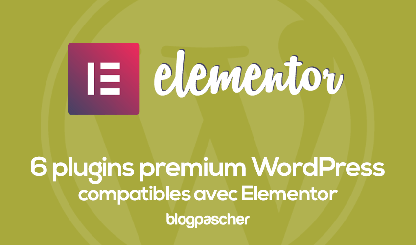 6 Plugins Wordpress Compatible Avec Elementor
