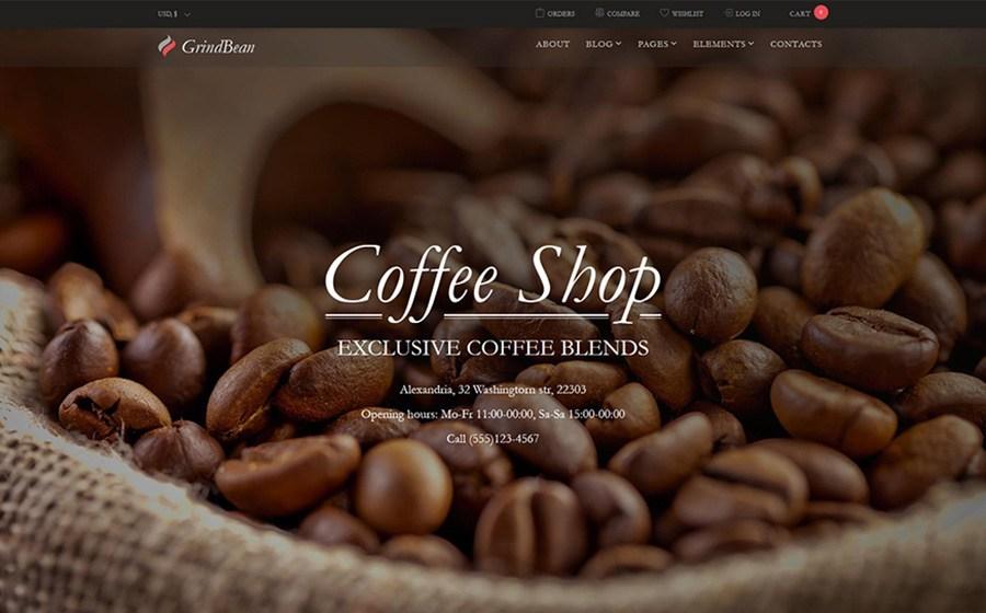 GrindBean - Coffee Shop thème WooCommerce adaptatif