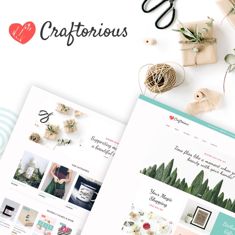 Craftorious - Handgemaakt Adaptive WooCommerce-thema met handgemaakte winkel