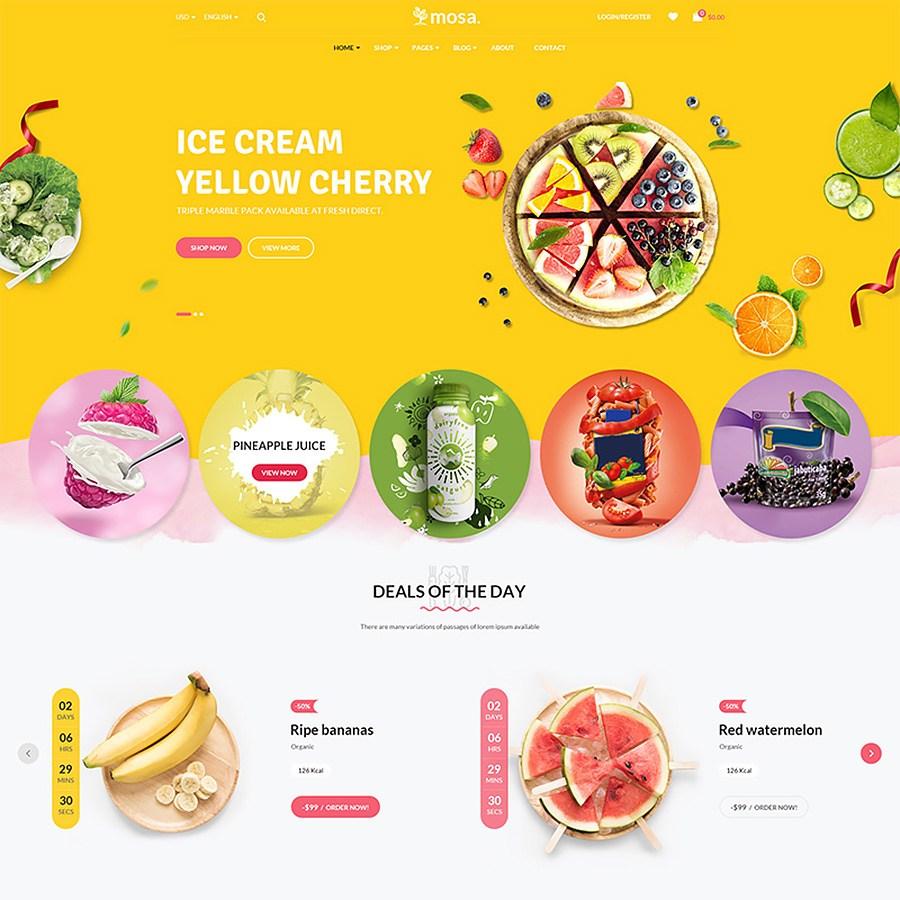 Mosa - Organic thème WooCommerce adaptatif