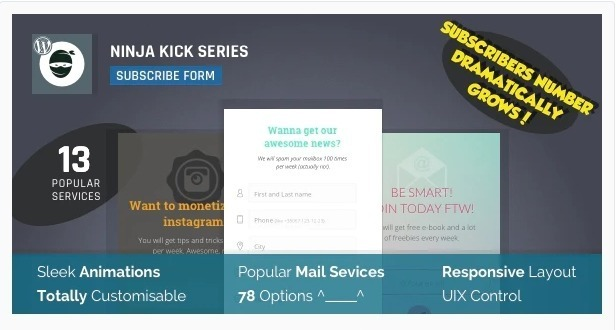 Ninja kick series plugin wordpress