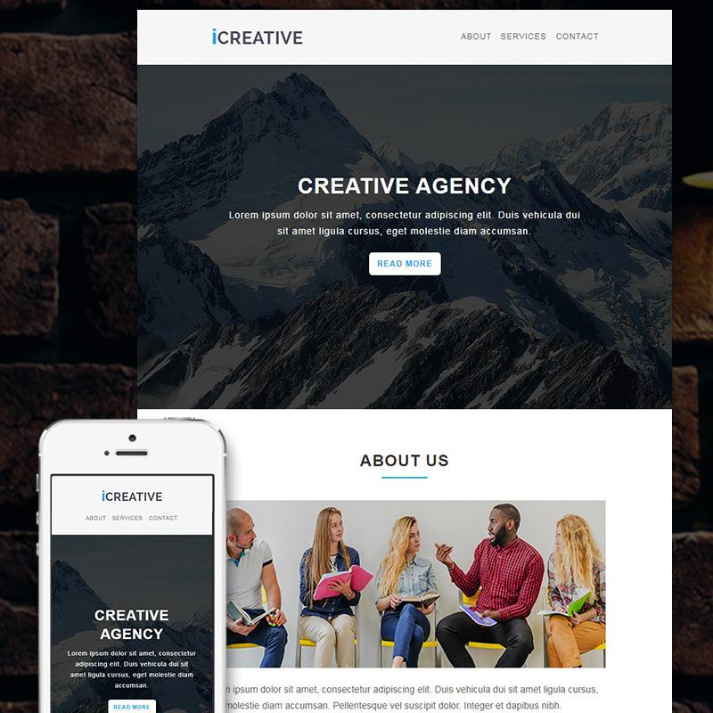 iCreative - Corporate Responsive modèle Bulletin adaptatif
