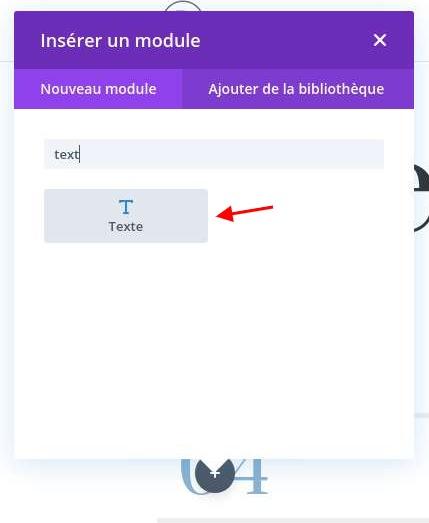 Ajouter module texte conteur