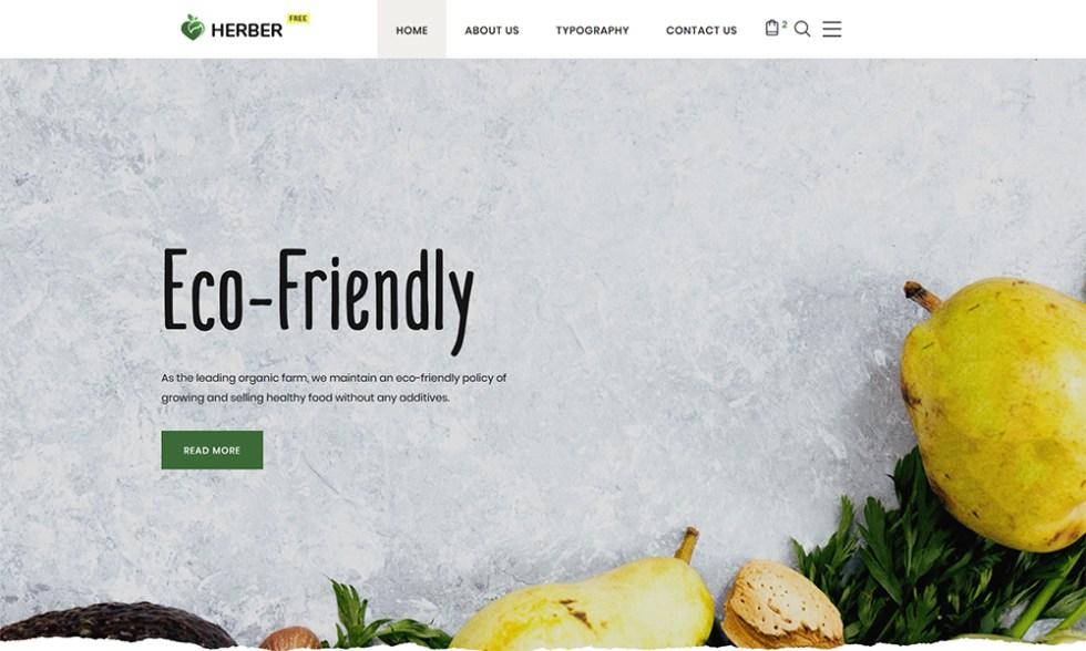 Modèle de site Web gratuit pour la livraison de nourriture