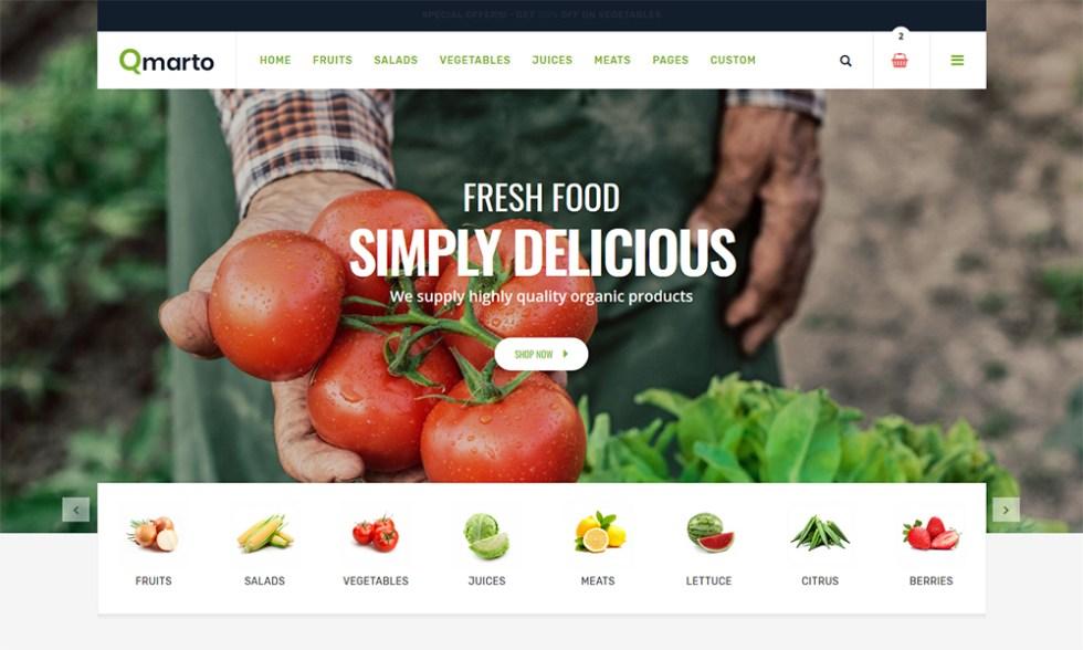 Qmarto - Modèle de site Web HTML5 pour magasin bio