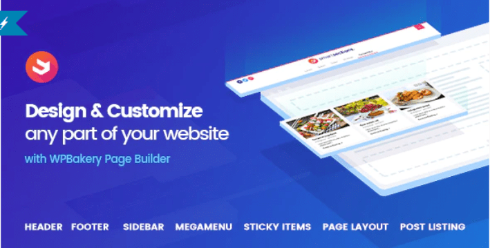 Smart sections theme builder wpbakery plugins wordpress booster pieds de page