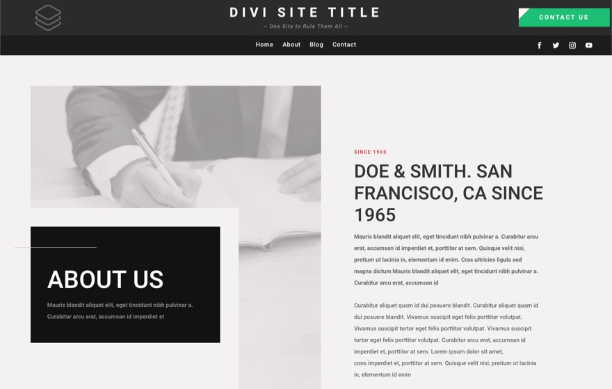 Dynamic site title global header template 6