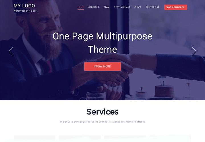 One Page - Thème WordPress polyvalent