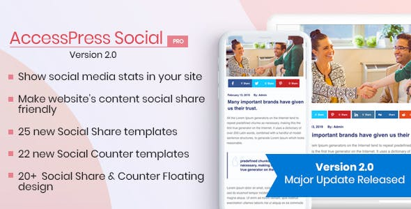 meilleurs plugins WordPress de partage social  - Accesspress plugin partage sociale