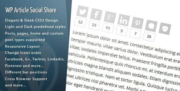 Social share plugin wordpress