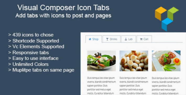 Visual composer icon tabs plugin wordpress ameliorer visuel