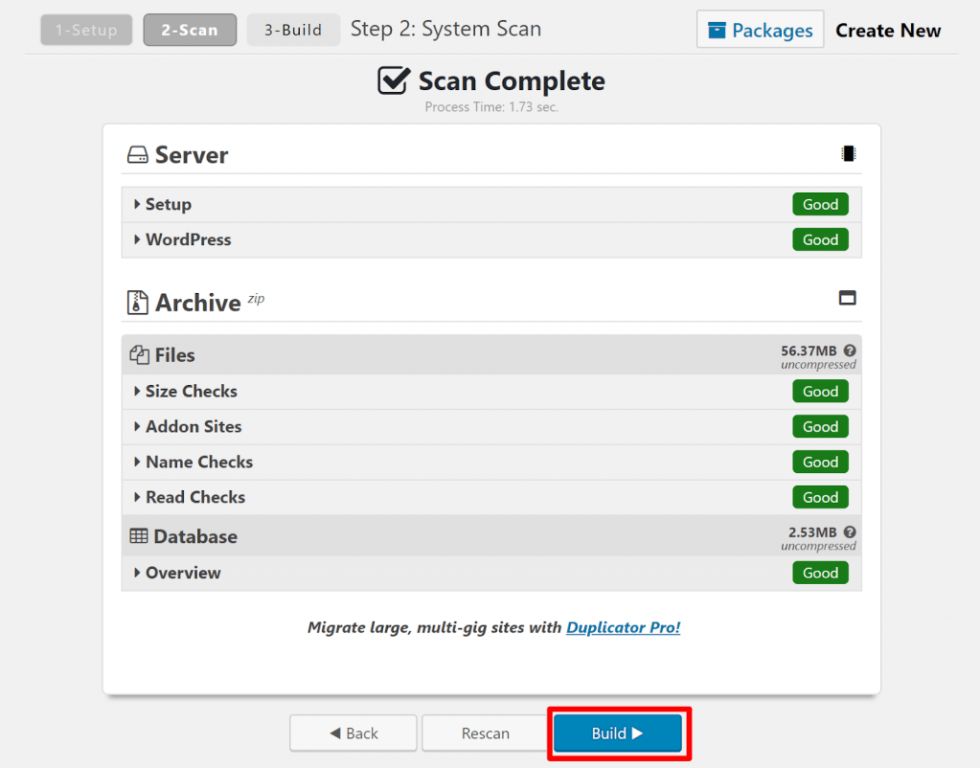 Comment migrer site web wordpress elementor package duplicator 2