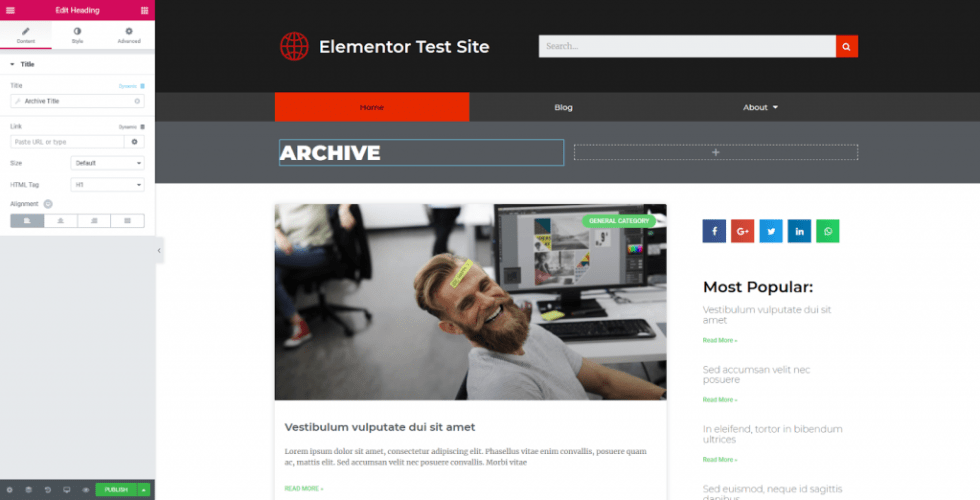 Comment personnaliser theme wordpress elementor entete template 32