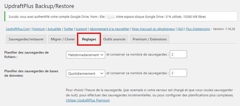 Comment sauvegarder site web wordpress avec sans plugins 8