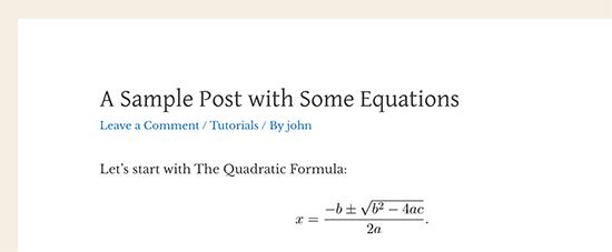 Maths eqauation latex previsualisation blogpascher