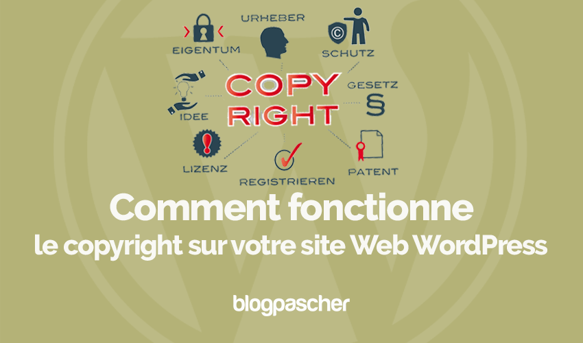 So funktioniert das Copyright der Wordpress-Website