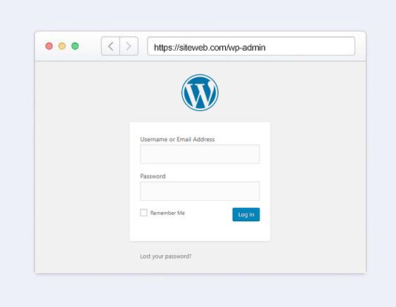 comment fonctionne url connexion wordpress