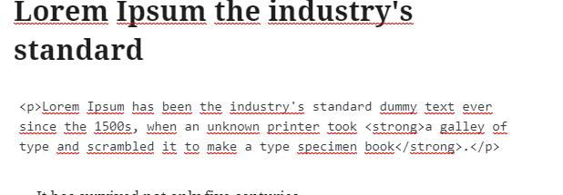 Wordpress google docs editeur html gutenberg 1