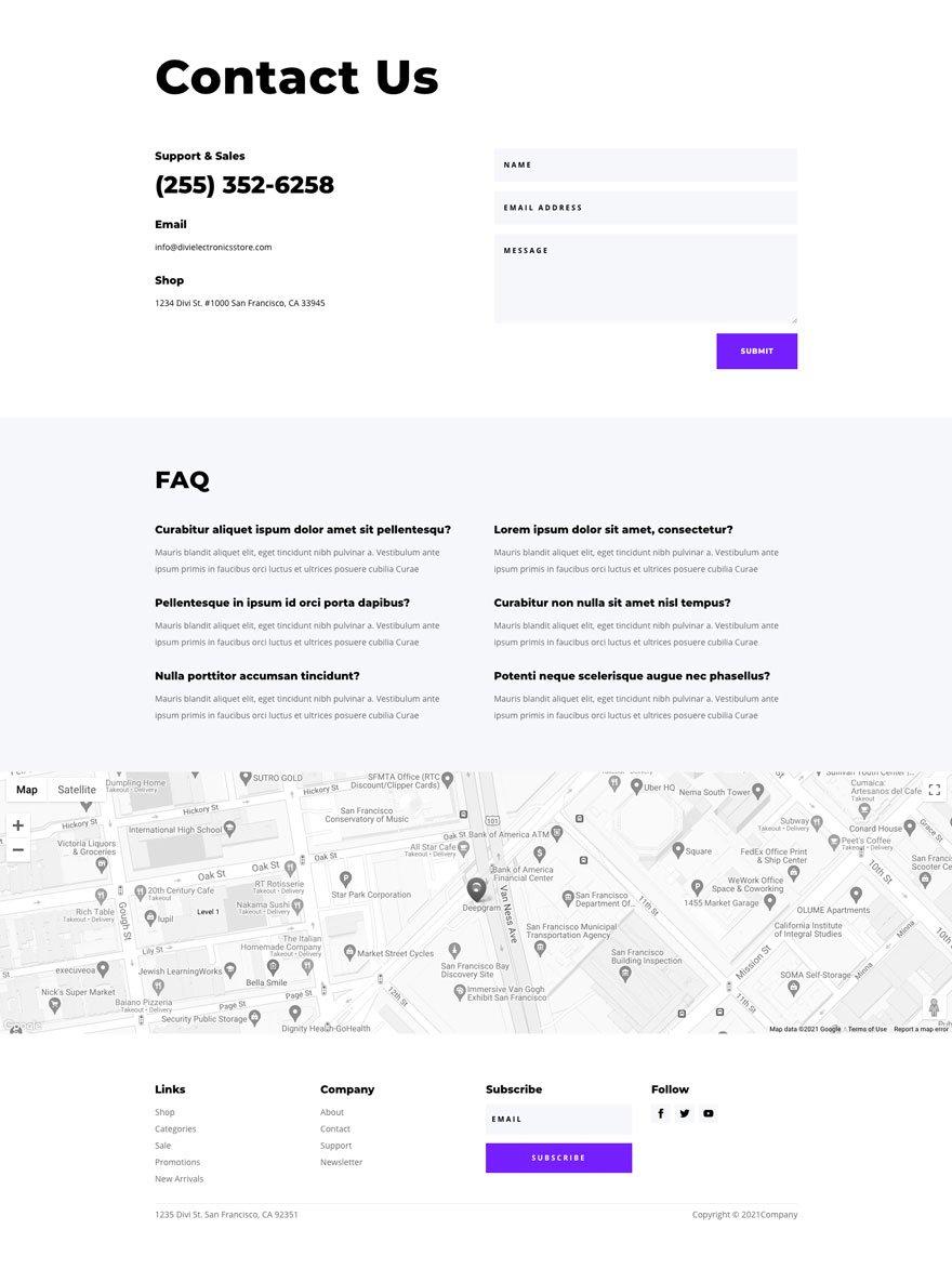 site Web de magasin d'électronique