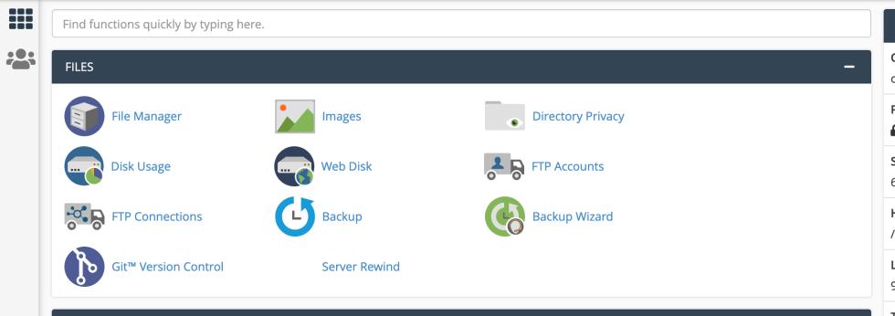 L'icône de confidentialité du répertoire de fichiers du tableau de bord cPanel.