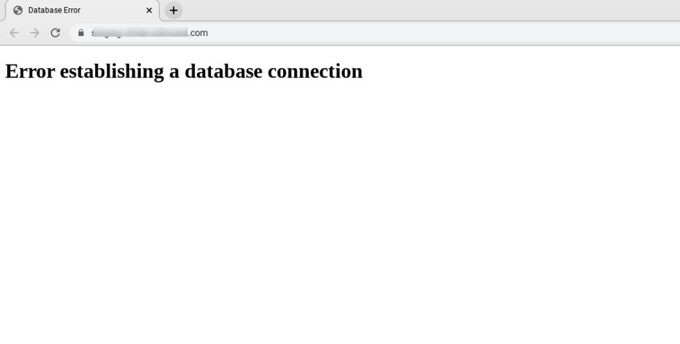 Erreur lors de l'établissement du message de connexion dans un navigateur.
