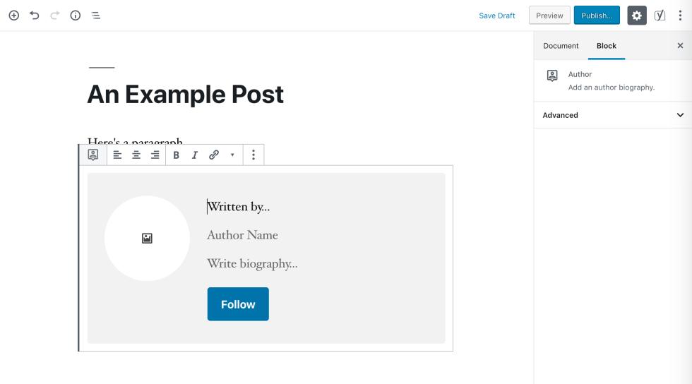 Un bloc auteur.