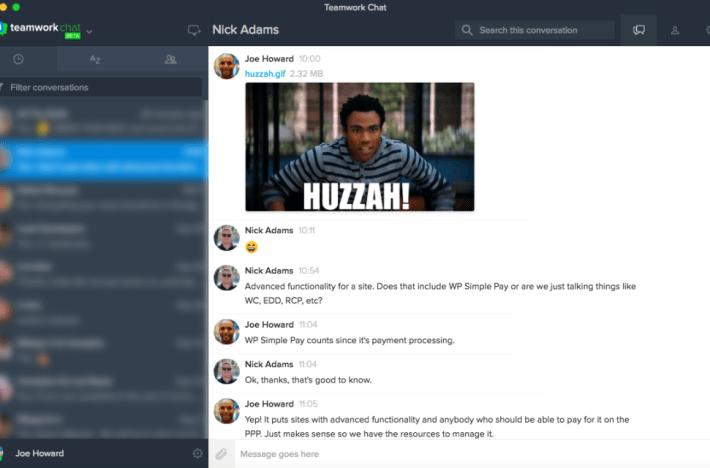 Capture d'écran des rapports de travail d'équipe