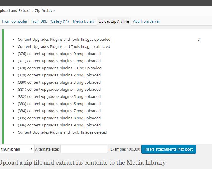 Téléchargement en masse de fichiers vers wordpress-9