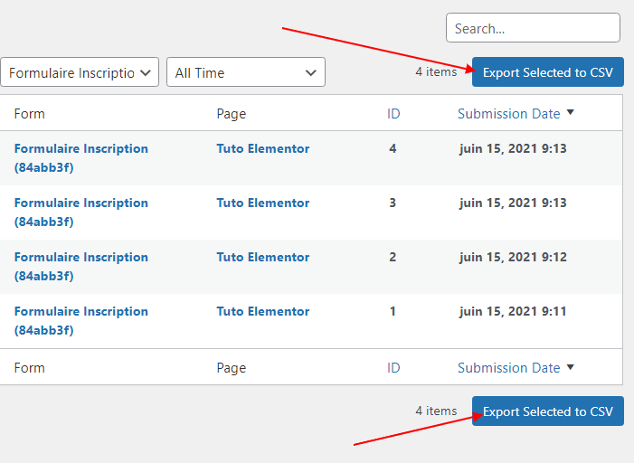 gérer les soumissions de formulaire dans Elementor