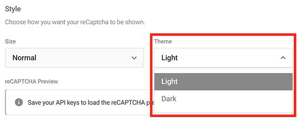 Où vous choisissez entre un thème clair ou sombre.