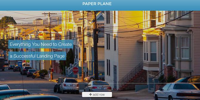 Velocitypage-paperplane-landing-page
