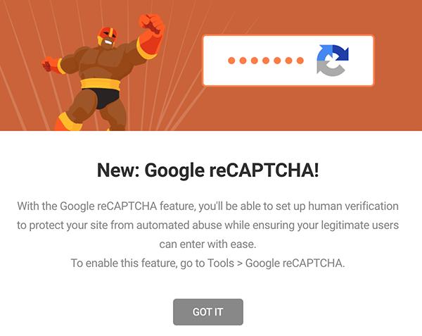 Annonce Google reCAPTCHA de Defender.