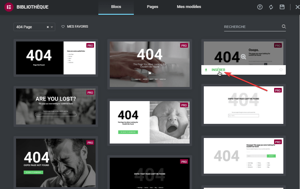 Comment créer une page 404 dans WordPress avec Elementor