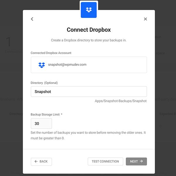 Où vous vous connectez à Dropbox.