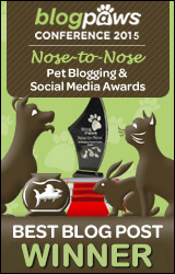 BlogPaws 2015 Nose-to-Nose Awards Winner badge