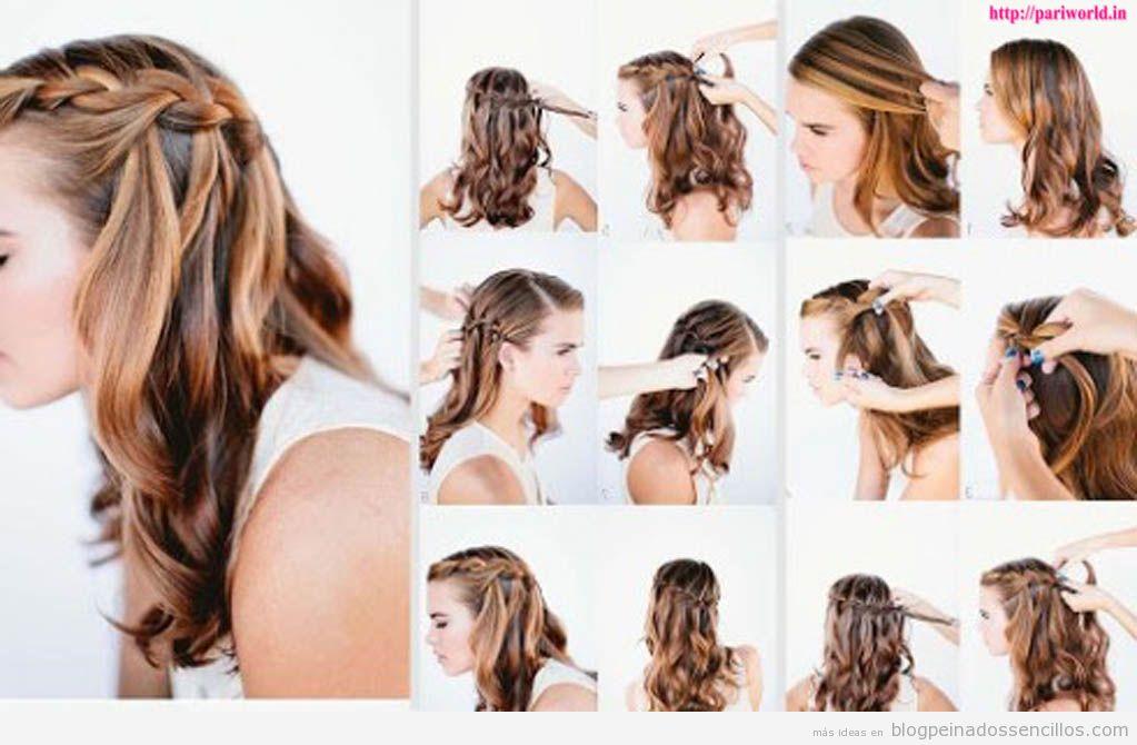 cmo hacer una trenza de cascada paso a paso peinados sencillos paso a paso ideas y vdeos para aprender a hacer peinados de pelo largo y