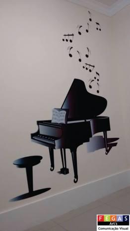 Adesivo de Parede Piano