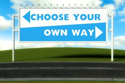 Choose your own way, concept