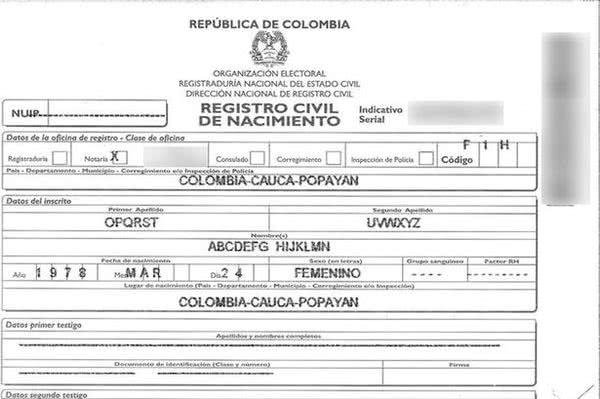 將姓名改為英文26個字母的哥倫比亞女教師