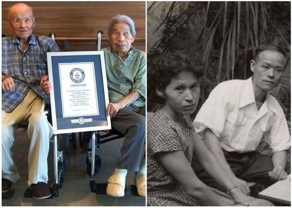目前在世最長壽的夫妻松本正雄及松本宮子