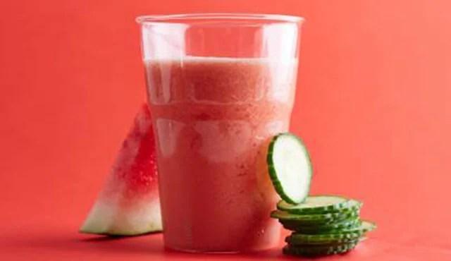 suco de morango e melancia