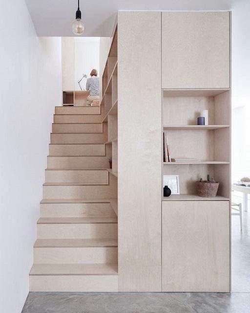 Tangga Rumah Sederhana : tangga, rumah, sederhana, Inspirasi, Desain, Tangga, Rumah, Sempit, Terbaik