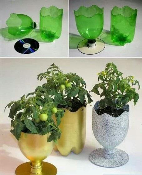 Pot Gantung Dari Botol Bekas : gantung, botol, bekas, Membuat, Bunga, Botol, Bekas, Desain, Paling