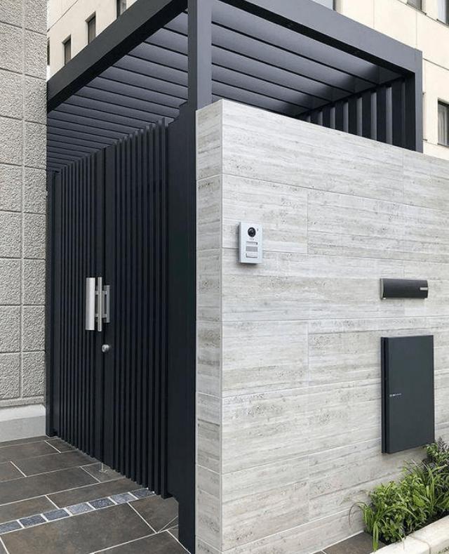 Pagar Rumah Batu Alam : pagar, rumah, Inspirasi, Desain, Pagar, Modern, Menawan