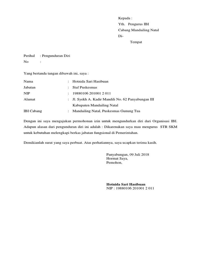 Download Surat Pengunduran Diri Karyawan : download, surat, pengunduran, karyawan, Contoh, Surat, Pengunduran, Kerja, Resmi, Sopan
