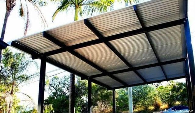 pemasangan atap baja ringan balikpapan kanopi murah jasa di